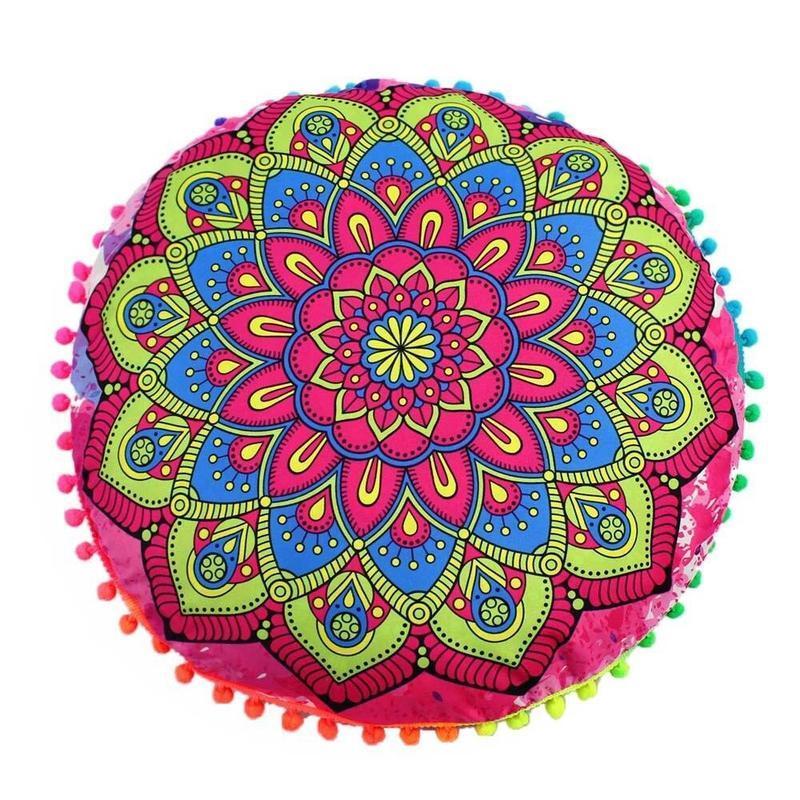 Coussin De Sol Mandala Indien