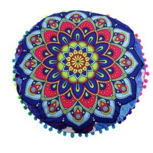 Coussin De Sol Rond Indien Mandala