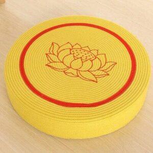 Coussin De Sol Rond Pouf Tatami Fleur