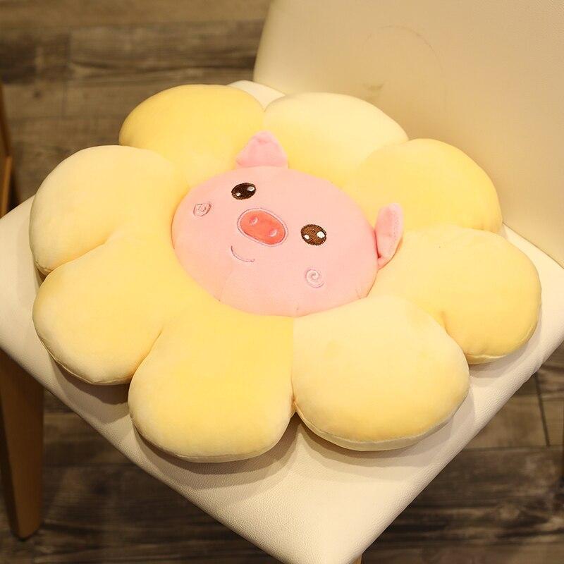 Coussin De Sol Soleil Fleurs Animal