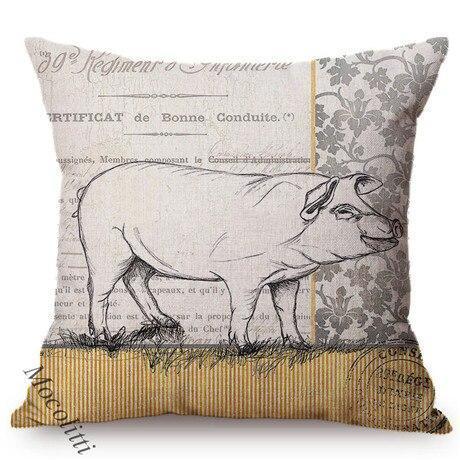 Coussin De Sol Vache Cochon Style